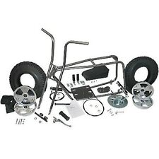 "Mini Bike Kit Set Fork Frame Seat 8"" Tires Wheel Sprocket Chain Twist Grip Cable"