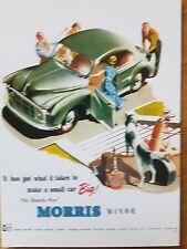 No 94 Morris Minor 2-door 1954 VM241PC Vintage Ad Gallery Postcard Mint Unused