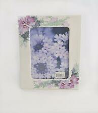 """Burnes of Boston Hand painted White Metal Picture Frame 7"""" x 5"""" Never Used"""