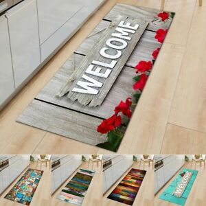 Non-Slip Kitchen Door Mat Home Floor Rug Washable Carpet Anti-Oil Easy Clean