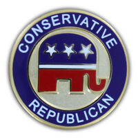 Conservative Republican Lapel Pin