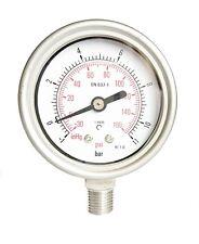 Compound S/Steel Pressure Vacuum Gauge 63mm 30*Hg/+150 PSI/Bar