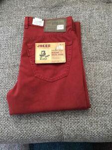 Joker Clark Herren Jeans Stretch Rot (3455/0706) Gr: wählbar neu mit Etikett