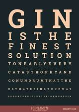Ginsanity The Gin Collective: The Gin Eye Test Poster A3