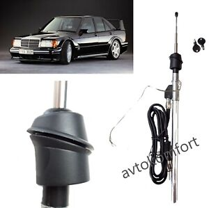 For Mercedes 190 W201 Back Antenna Fender Radio Car Manual Telescopic 4 section