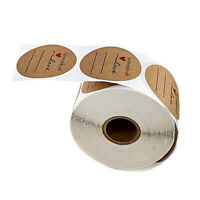 """500pcs 1"""" Homemade with Love Stickers Kraft Paper Sealing Label Adhesive Tag"""