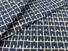 China Seas Quadrille Geometric Linen Fabric- Fez II / Navy on Tint 1 yd 4045-18