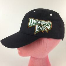 Dragons Lair Gaming Black Baseball Cap Hat Adjustable Trucker Hook And Loop