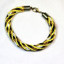 Designer Kumihimo Bracelet Made with Brass End Caps
