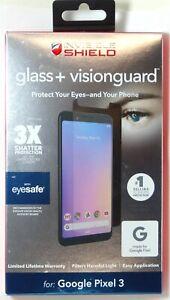 ZAGG Glass+ VisionGuard Screen (filter Harmful Blue Light) for Pixel 3