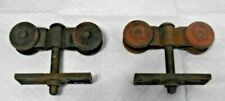 Vtg. DOOR ROLLERS Architectural Hardware - Pair - TOP MOUNT ROLLER PAIR