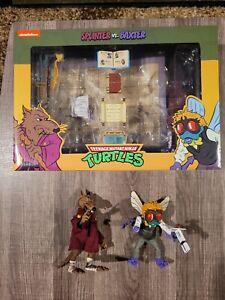 NECA Teenage Mutant Ninja Turtles Splinter and Baxter loose 100% complete