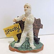 Halloween Village Figure, MUMMY, Tombstone Corner New