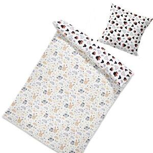 Wendebettwäsche 135 x 200 cm Set Babybettwäsche Kinderbettwäsche 100% Baumwolle