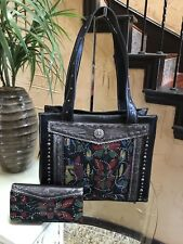 Western Montana West American Bling Tribal Concho Collection Tote+ Wallet Set