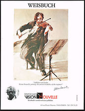 1979 Vintage Editions Vision Novelle - Weisbuch Violinist Violin Art Print AD