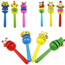 Music Baby Ring Wooden Percussion Funny Instrument Hand Bell Rattles Musical