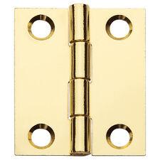 "Flat Butt Hinge 1-1/2"" X 1-1/4"", Polished Brass"