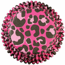 Wilton 36 Pack ColorCups LEOPARD PINK Animal Cupcakes Muffins Baking Party Cases