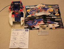 G.I. Joe 1993 Shark 9000 Vehicle 100% Complete w/ Cutter (driver) & Blueprints