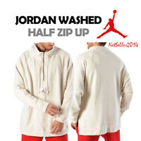 SZ XL🔥🆕 Nike Jordan Men's 1/4 Zip Wings Washed Pullover Sweatshirt 939954 $110