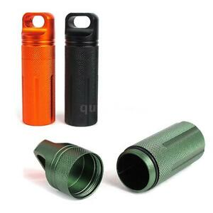 3x Outdoor Pill Bottle Waterproof Survival Pill Case Capsule EDC Seal Container