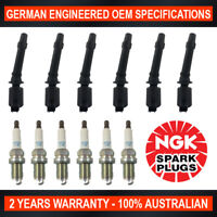6x Genuine NGK Iridium Spark Plugs & 6x Ignition Coils for Ford Falcon BA XR6