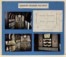 Babylon 5 Minbari Cruiser Hallway Set Design Storyboard Used During Production