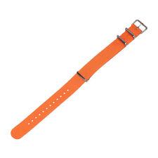 Universal   Nylon Weaving Loop Watch Strap Bracelet Heavy Duty 18 20 22 mm