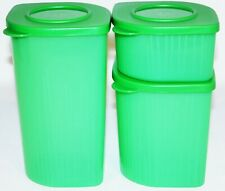 Tupperware Fresh N Cool Set of 3 Modular Containers 2, 4 & 6 Cups Green