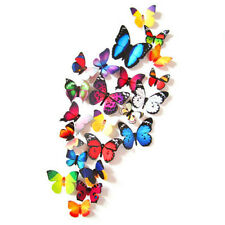 24pcs 3D Butterfly Design Decal Art Wall Stickers Room Decorations Home Decor UK