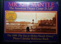 NY Yankees 1999 Mickey Mantle This Day History Photo Calendar Fact Book Sealed