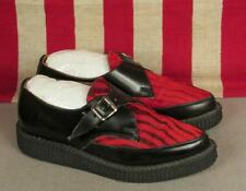 Vintage Underground Red/Black Tiger Stripe Creepers Shoes Buckle Sz.6 England