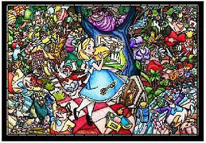 Tenyo Puzzle 500pcs Disney Alice in Wonderland Stained Glass Jigsaw Puzzle