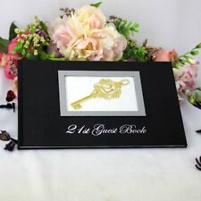 21st Birthday Party Guest Book - Black | Gift | Present | Keepsake