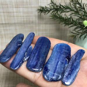 5pcs Rare Blue Crystal Natural Kyanite Polished Gem stone Specimen Healing 5434
