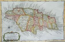 Jamaica, map by J.N. Bellin, 1758, Carte de l´Isle de la Jamaïque