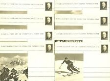 Czechoslovakia ,8 postcard - Winter festival games in the Tatras , full set,iss.