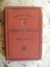 ELEMENTI DI SOCIOLOGIA GENERALE - EMILIO MORSELLI - PRIMA EDIZIONE 1898