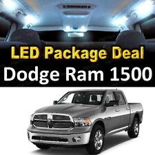 10x White LED Lights Interior Package Deal For 2009 - 2016 2017 Dodge Ram 1500