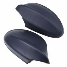 Black Left+Right Side Mirror Covers Cap Primed For BMW E90 E91 3-Series 2006-08