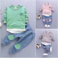 Autumn for Newborn Baby Boys Kids T-shirt Tops+Pants Leggings Outfit Clothes Set