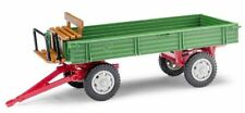 Busch 210009201 MH: Anhänger T4 mit Sitzbank, Grün/Rot  1:87