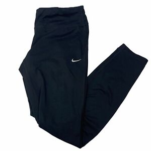 Nike Women's Running Dri-Fit Black Track Jogger Leggings Athletic Size L Tapered