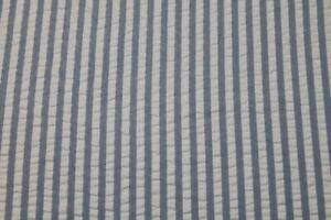 Cuddledown 100% Cotton Seersucker White & Blue Stripe Queen Size