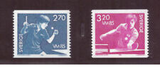 Sweden MNH 1985  Table Tennis Championships  set mint stamps