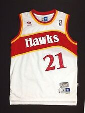 Adidas NBA HAWKS Wilkins # 21 Jersey Hardwood Classics Size M Mens Vintage (R)