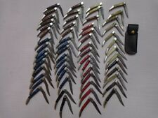 LOT OF 58 CUSTOM HAND MADE DAMASCUS FOLDING KNIVES . TOOTH PICK . POCKET KNIVES