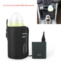USB Baby Bottle Warmer Heater Bag Car Travel Portable Milk Feeding Thermostat