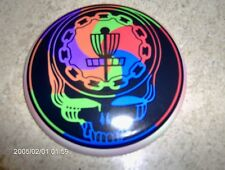 "Grateful Dead Swirly skull 4"" mini disc golf x1! ""Ace your face!"" logo"